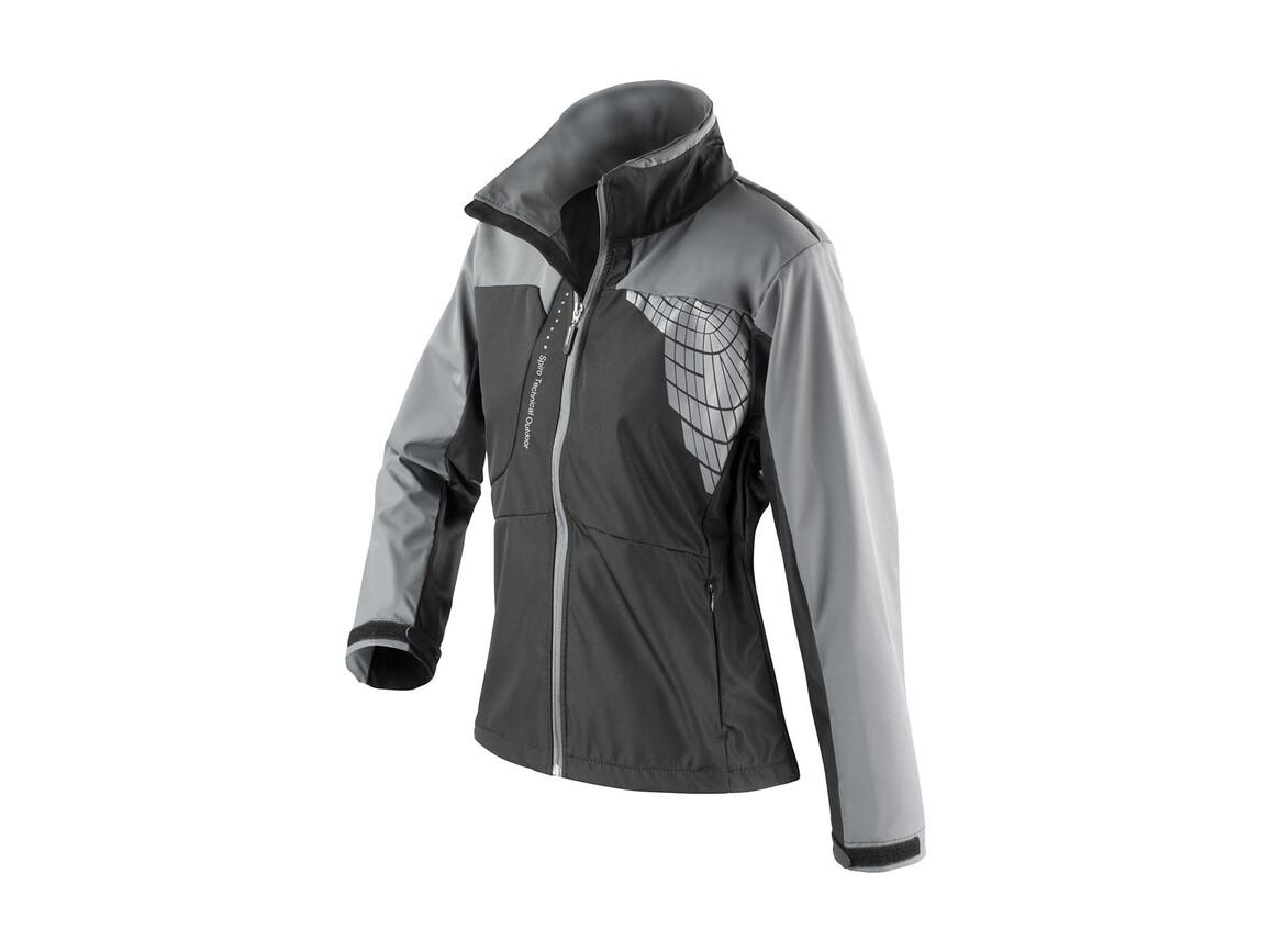 Result Women`s Team Soft Shell Jacket, Black/Grey, M bedrucken, Art.-Nr. 015331514