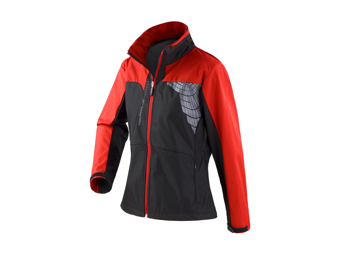 Result Women`s Team Soft Shell Jacket, Black/Red, L bedrucken, Art.-Nr. 015331545