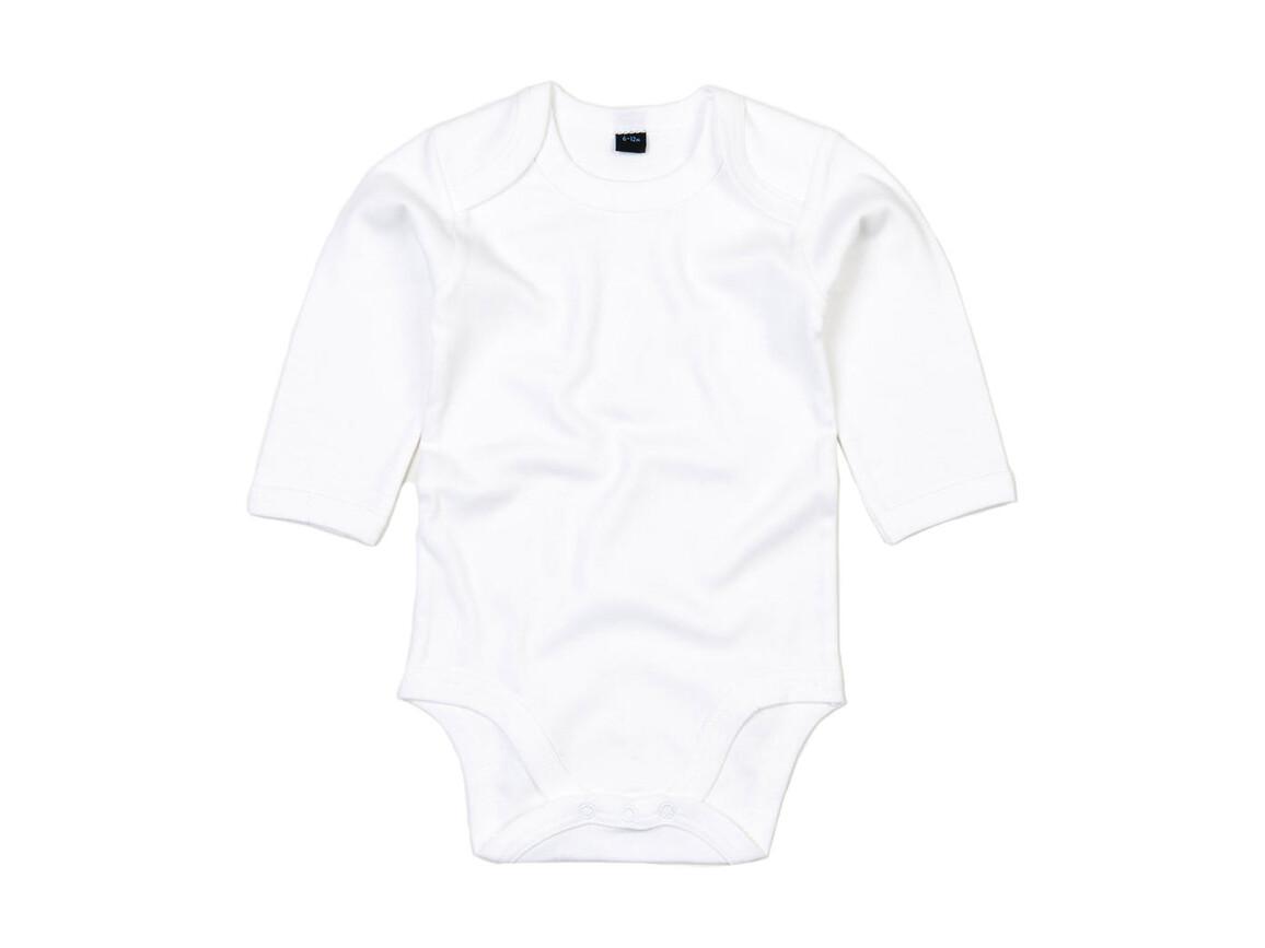 BabyBugz Baby Organic LS Bodysuit, White, 12-18 bedrucken, Art.-Nr. 015470004