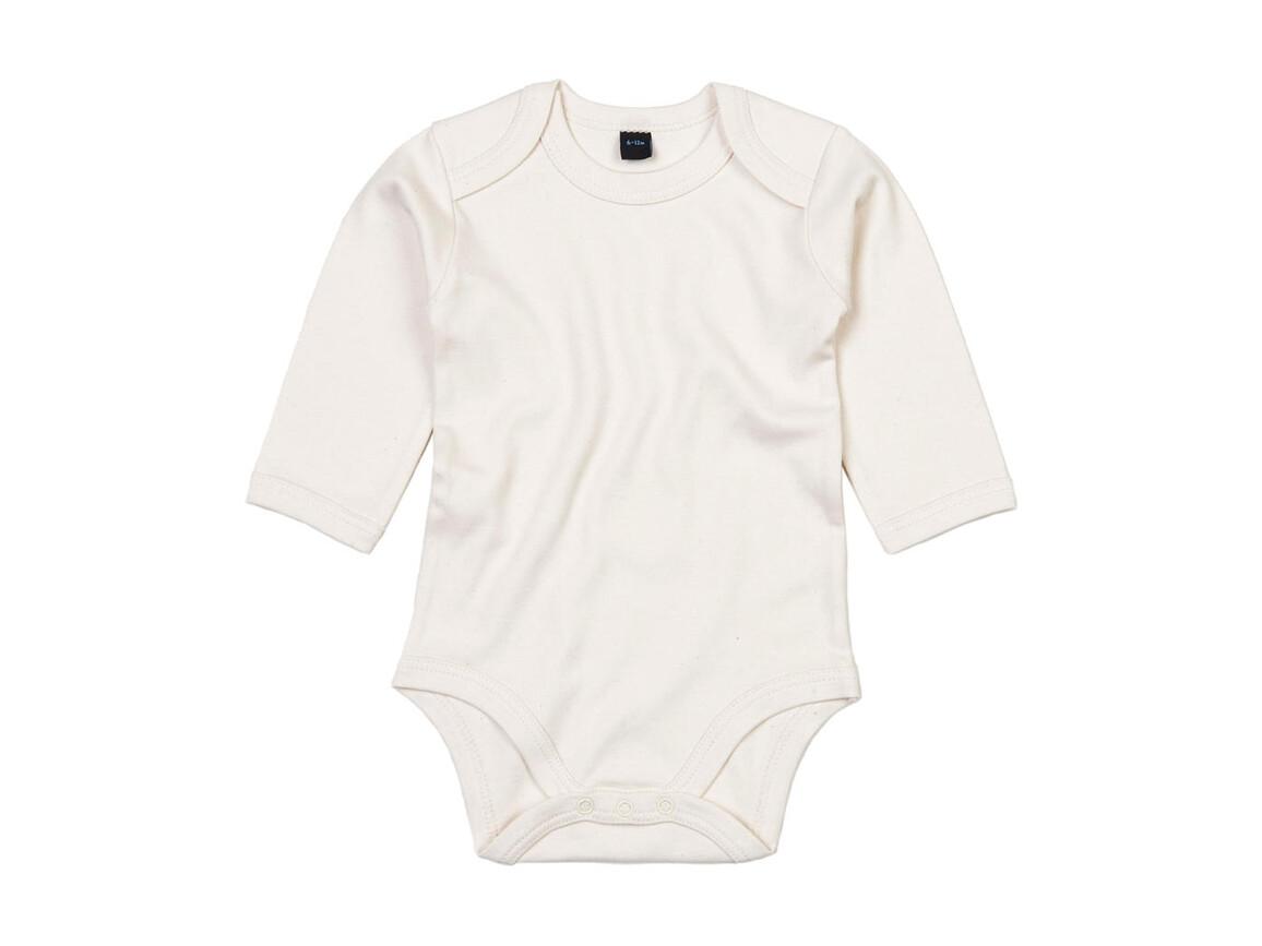 BabyBugz Baby Organic LS Bodysuit, Organic Natural, 0-3 bedrucken, Art.-Nr. 015470081