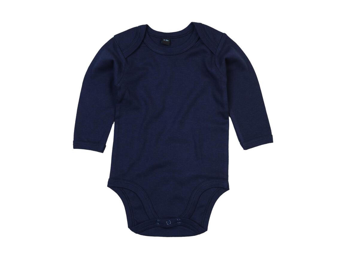 BabyBugz Baby Organic LS Bodysuit, Nautical Navy, 6-12 bedrucken, Art.-Nr. 015472013