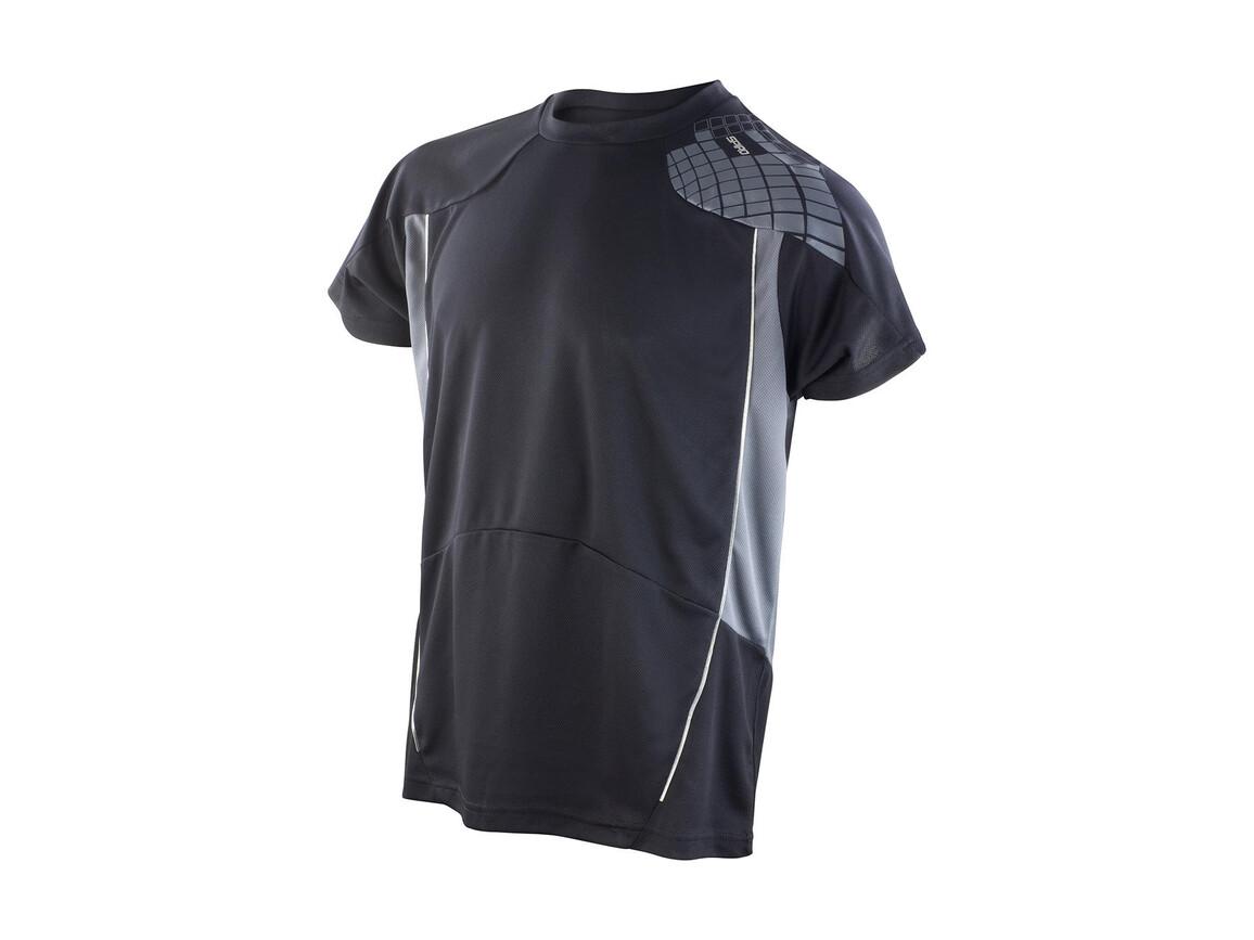 Result Men`s Training Shirt, Black/Grey, L bedrucken, Art.-Nr. 016331515