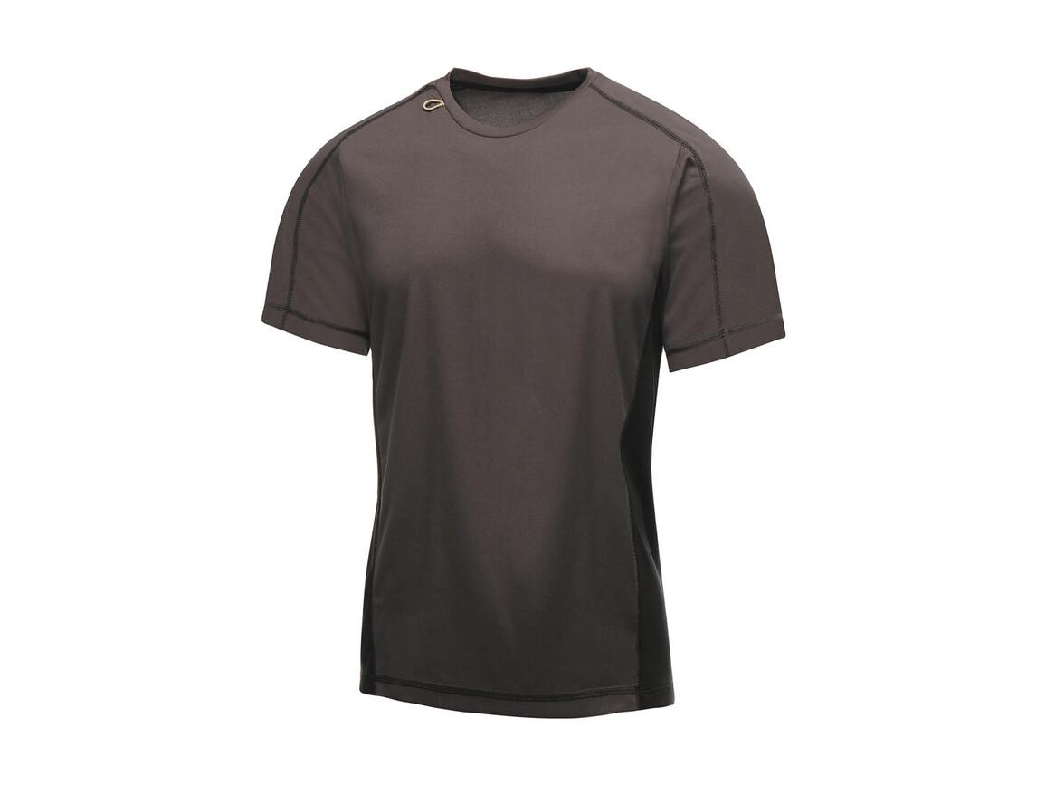 Regatta Beijing T-Shirt, Iron/Black, M bedrucken, Art.-Nr. 020171134