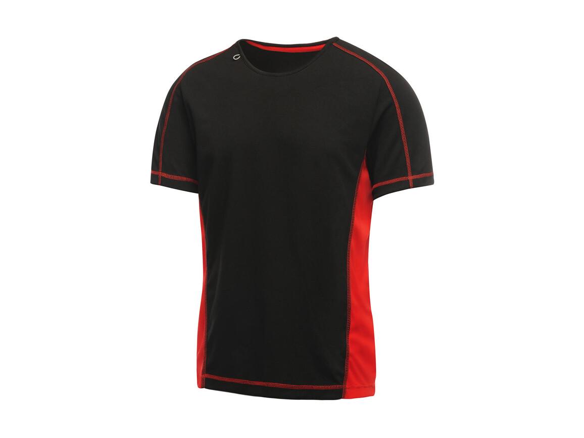 Regatta Beijing T-Shirt, Black/Classic Red, 2XL bedrucken, Art.-Nr. 020171577