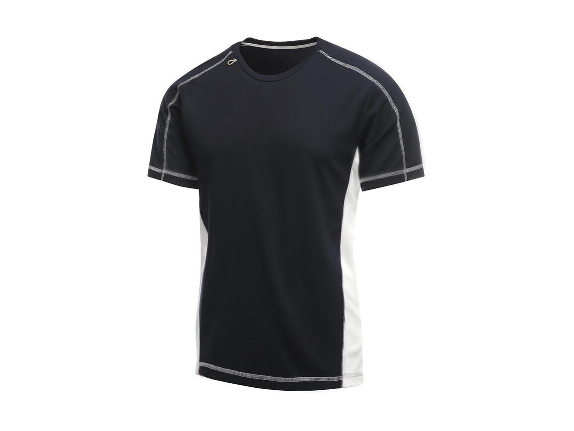 Regatta Beijing T-Shirt, Navy/White, L bedrucken, Art.-Nr. 020172535