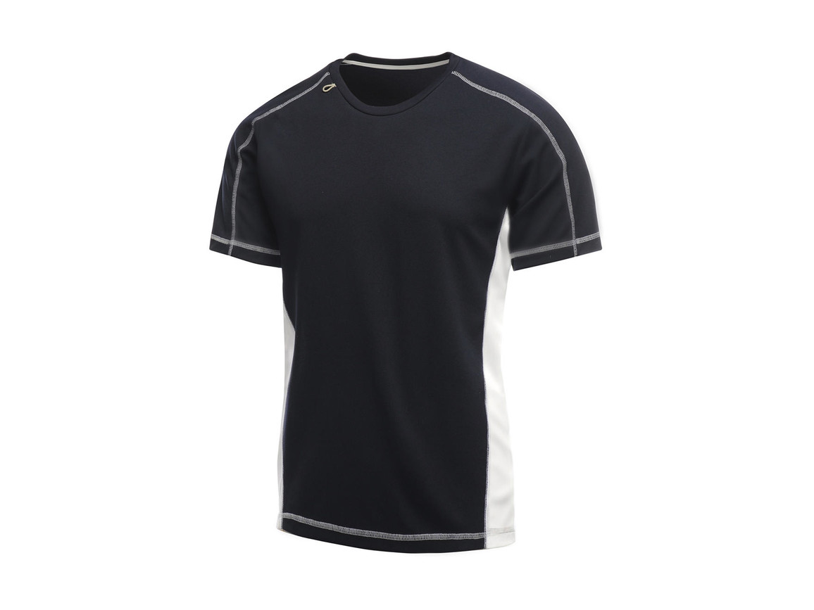 Regatta Beijing T-Shirt, Navy/White, M bedrucken, Art.-Nr. 020172534