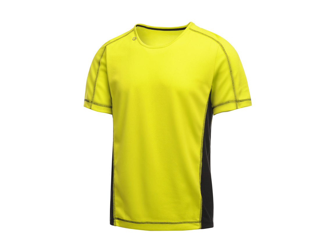 Regatta Beijing T-Shirt, Lime Zest/Black, M bedrucken, Art.-Nr. 020175544