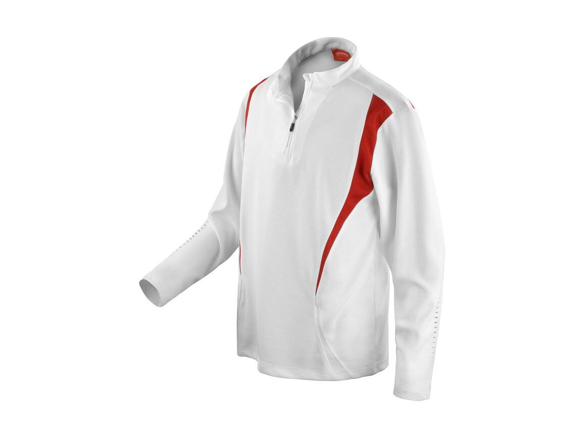 Result Spiro Trial Training Top, White/Red/White, L bedrucken, Art.-Nr. 020330915