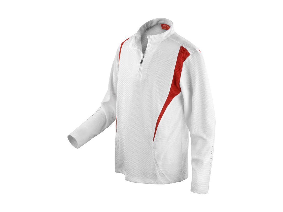 Result Spiro Trial Training Top, White/Red/White, XS bedrucken, Art.-Nr. 020330912