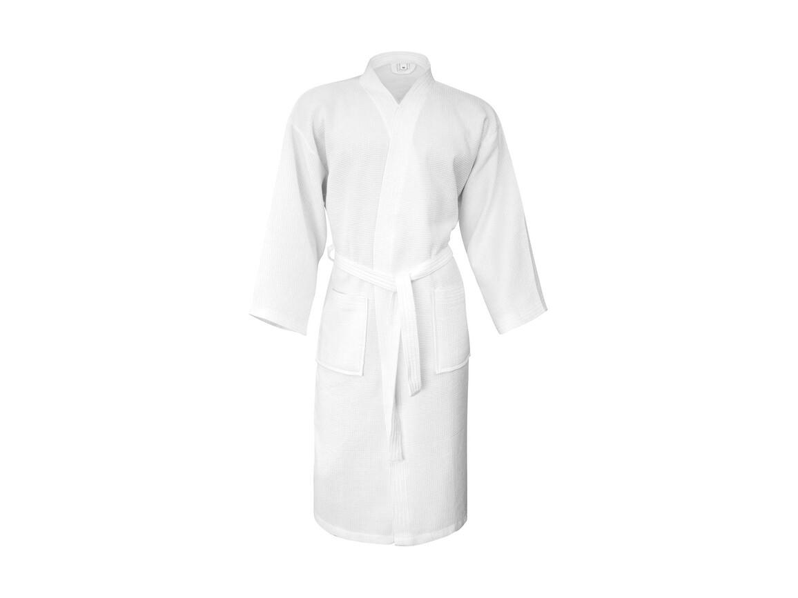 Jassz Towels Constance Waffle Pique Bath Robe, Snowwhite, 2XL/3XL bedrucken, Art.-Nr. 020640016