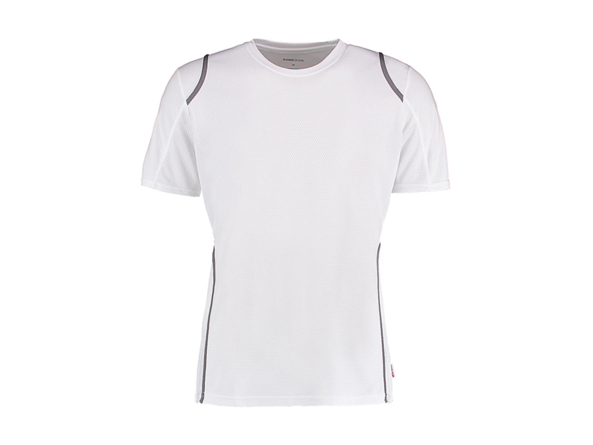 Kustom Kit Regular Fit Cooltex® Contrast Tee, White/Grey, XS bedrucken, Art.-Nr. 021110552