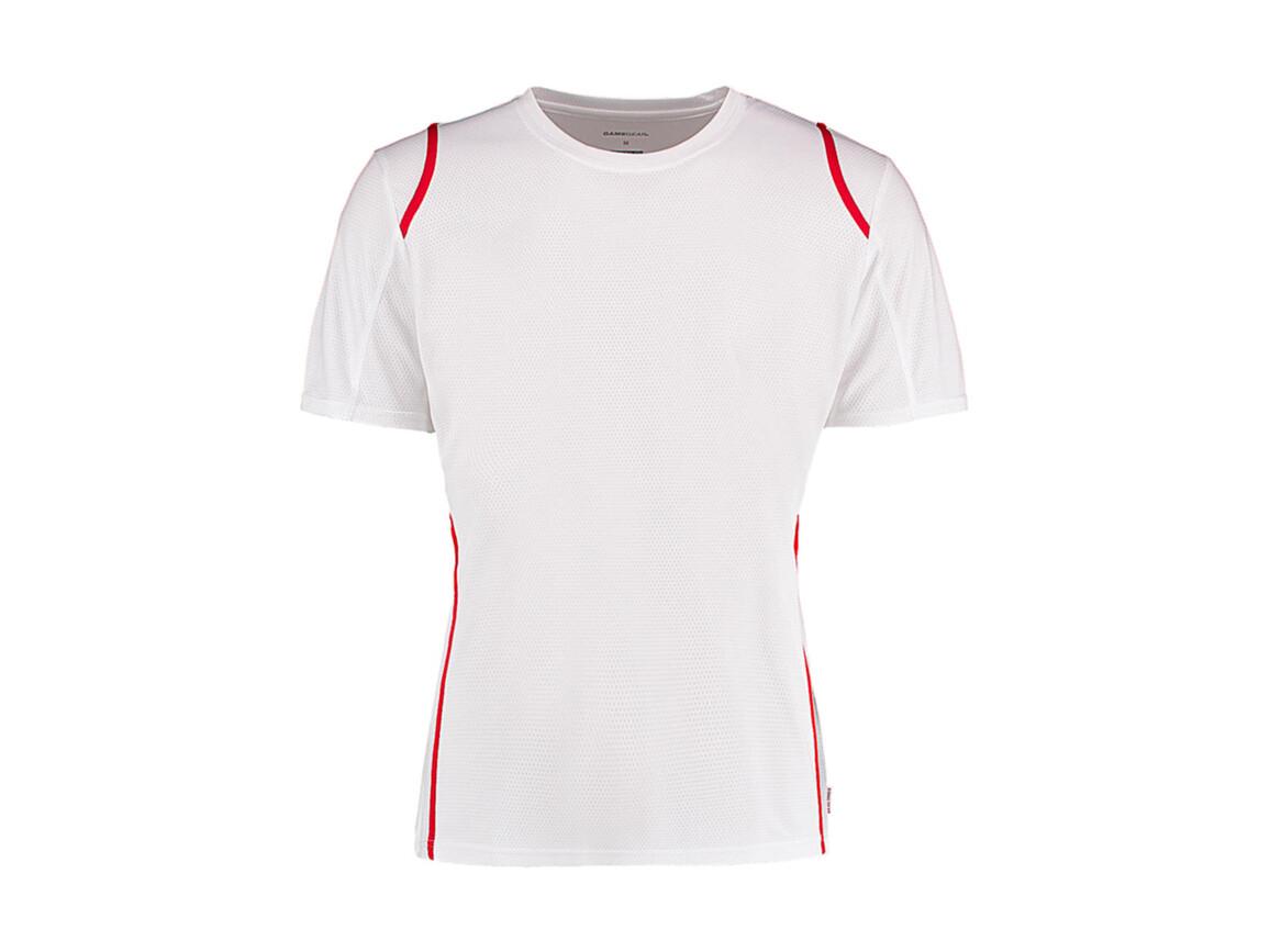 Kustom Kit Regular Fit Cooltex® Contrast Tee, White/Red, XS bedrucken, Art.-Nr. 021110572