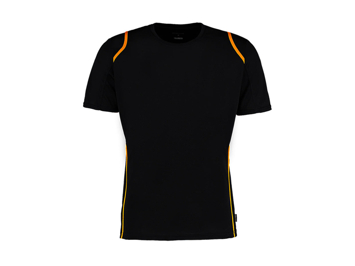 Kustom Kit Regular Fit Cooltex® Contrast Tee, Black/Gold, M bedrucken, Art.-Nr. 021111584