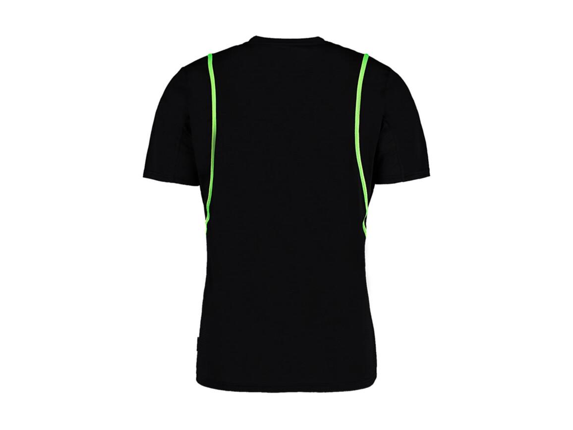 Kustom Kit Regular Fit Cooltex® Contrast Tee, Black/Fluorescent Lime, M bedrucken, Art.-Nr. 021111614