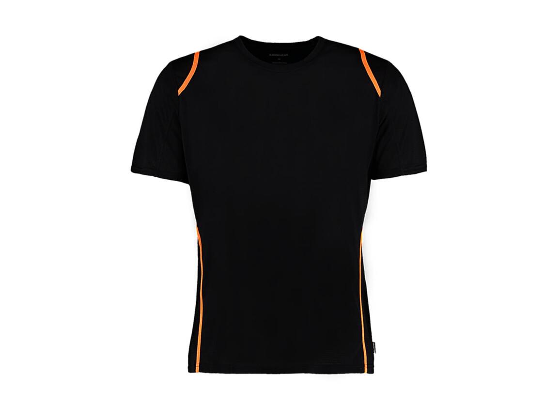 Kustom Kit Regular Fit Cooltex® Contrast Tee, Black/Fluorescent Orange, L bedrucken, Art.-Nr. 021111685