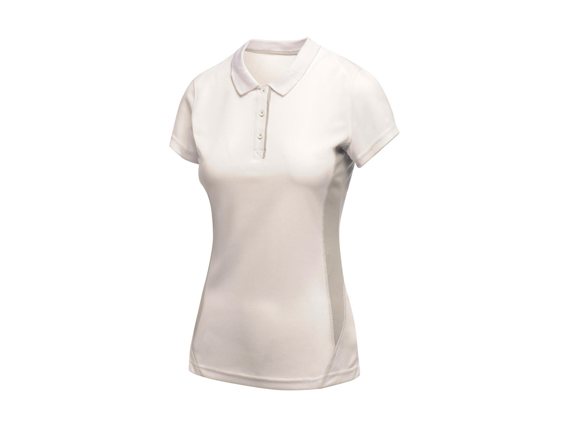 Regatta Ladies Salt Lake Polo, White, 12 (38) bedrucken, Art.-Nr. 021170004