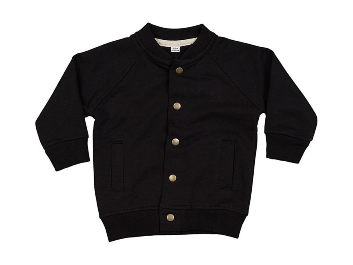 BabyBugz Baby Bomber Jacket, Black, 6-12 bedrucken, Art.-Nr. 021471013