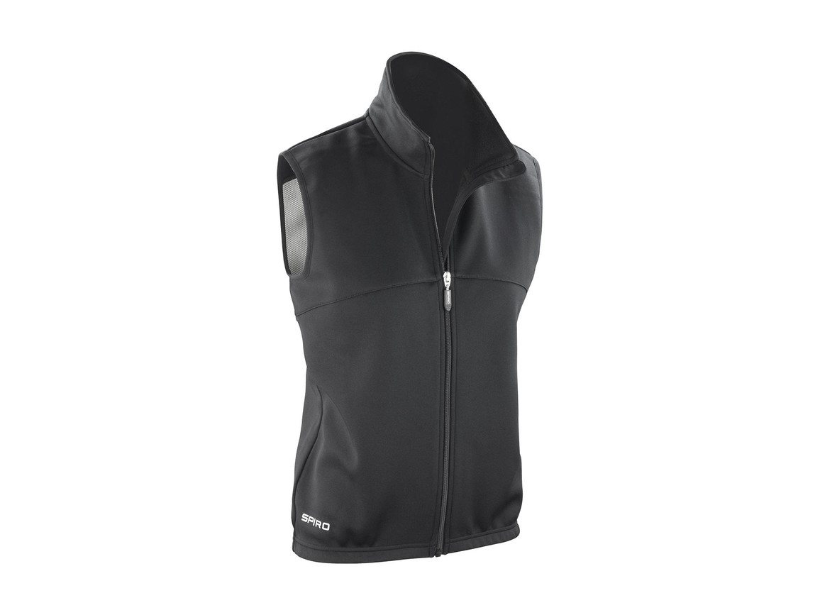 Result Spiro Ladies` Airflow Gilet, Black/Black, M (12) bedrucken, Art.-Nr. 022331774