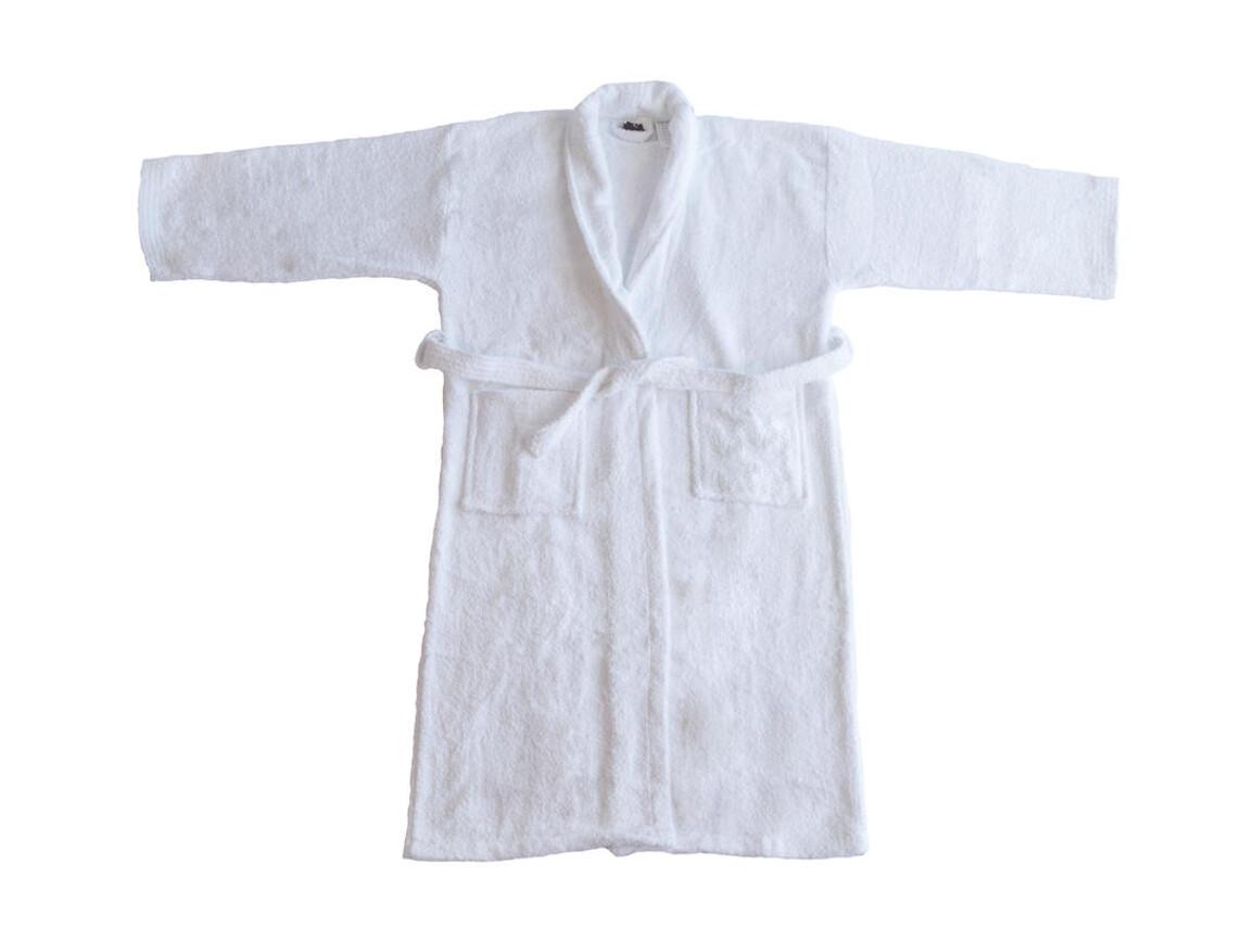 Jassz Towels Geneva Bath Robe, White, 3XL/4XL bedrucken, Art.-Nr. 022640008
