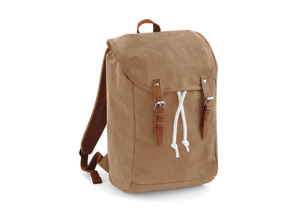 Quadra Vintage Backpack, Caramel, One Size bedrucken, Art.-Nr. 023307400