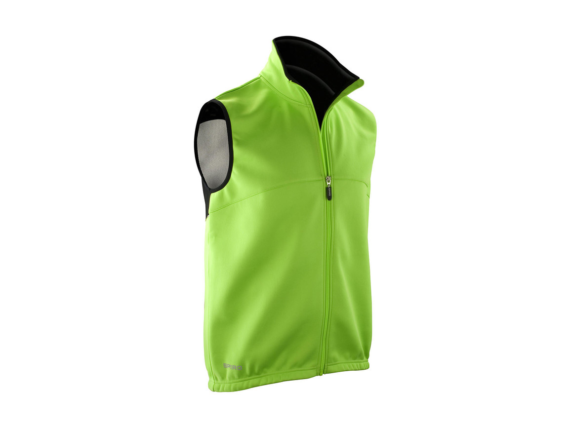 Result Spiro Airflow Gilet, Neon Green/Black, S bedrucken, Art.-Nr. 023335693
