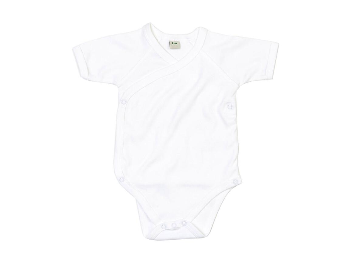 BabyBugz Baby Organic Kimono Bodysuit, White, 3-6 bedrucken, Art.-Nr. 023470002