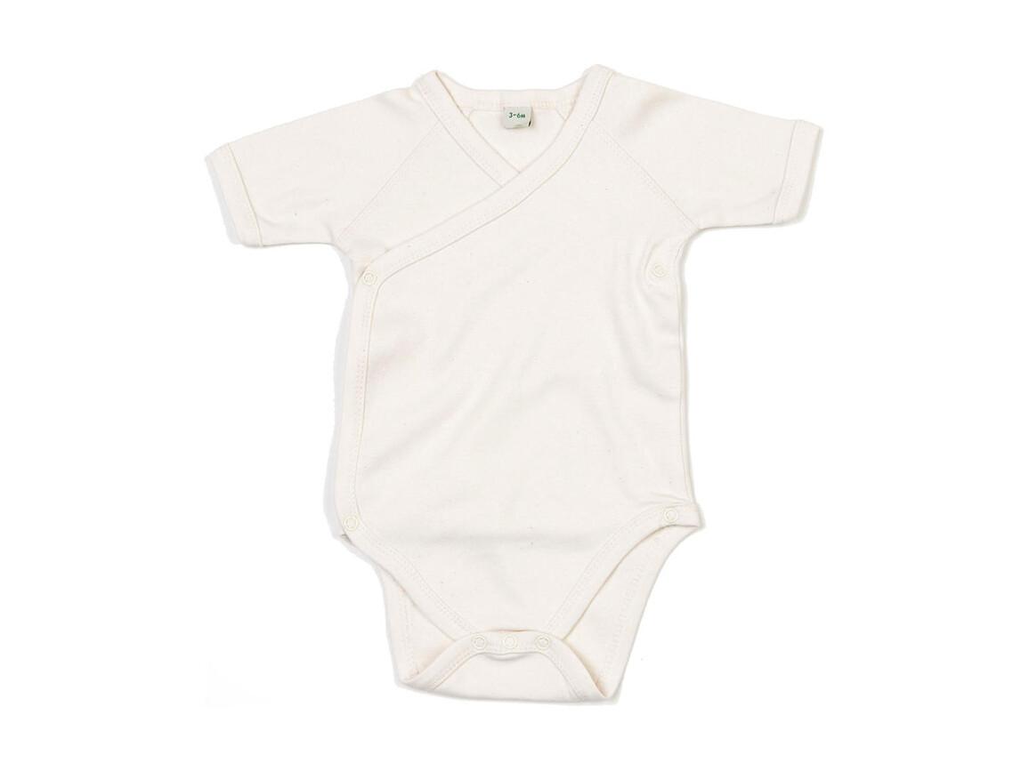 BabyBugz Baby Organic Kimono Bodysuit, Organic Natural, 3-6 bedrucken, Art.-Nr. 023470082