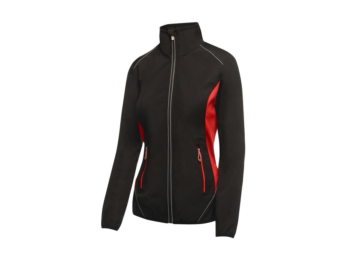 Regatta Ladies Sochi Softshell, Black/Classic Red, 10 (36) bedrucken, Art.-Nr. 025171573