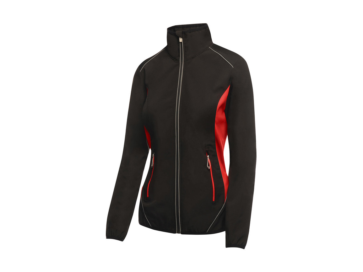 Regatta Ladies Sochi Softshell, Black/Classic Red, 12 (38) bedrucken, Art.-Nr. 025171574