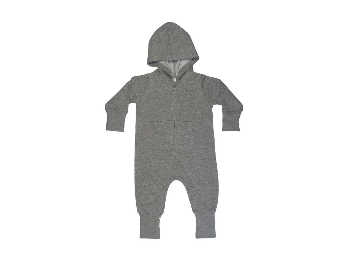 BabyBugz Baby All-in-One, Washed Grey Melange, 12-18 bedrucken, Art.-Nr. 025471164