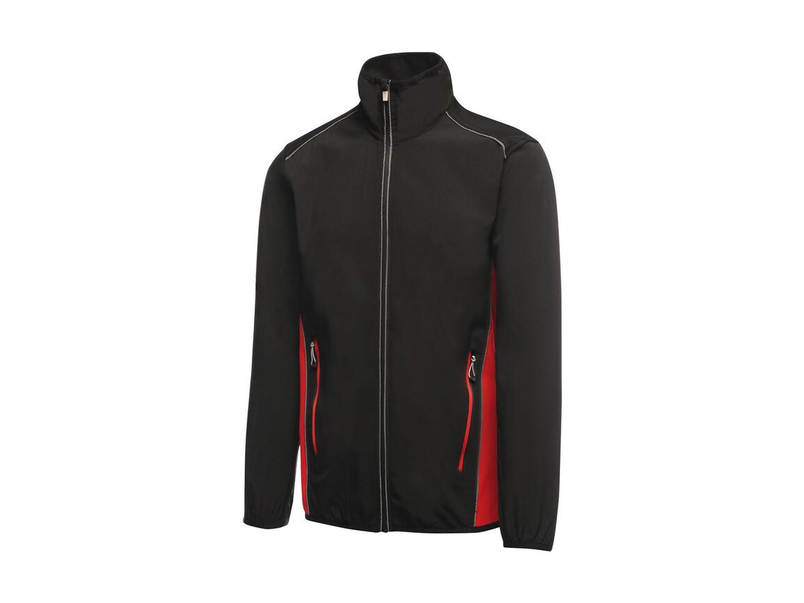 Regatta Sochi Softshell, Black/Classic Red, L bedrucken, Art.-Nr. 026171575