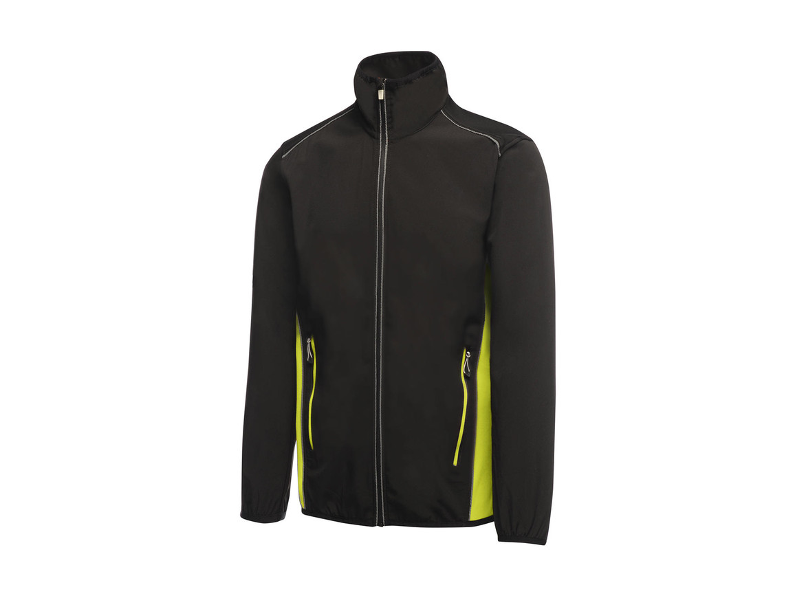Regatta Sochi Softshell, Black/Lime Zest, L bedrucken, Art.-Nr. 026171715