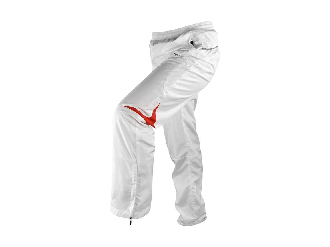 Result Men`s Micro Lite Team Pant, White/Red, XL bedrucken, Art.-Nr. 026330576