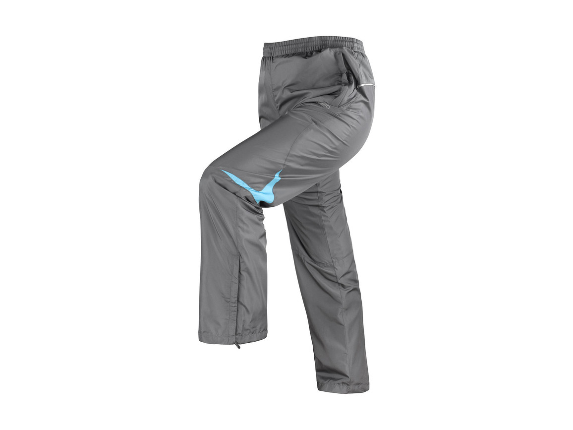 Result Men`s Micro Lite Team Pant, Grey/Aqua, M bedrucken, Art.-Nr. 026331444