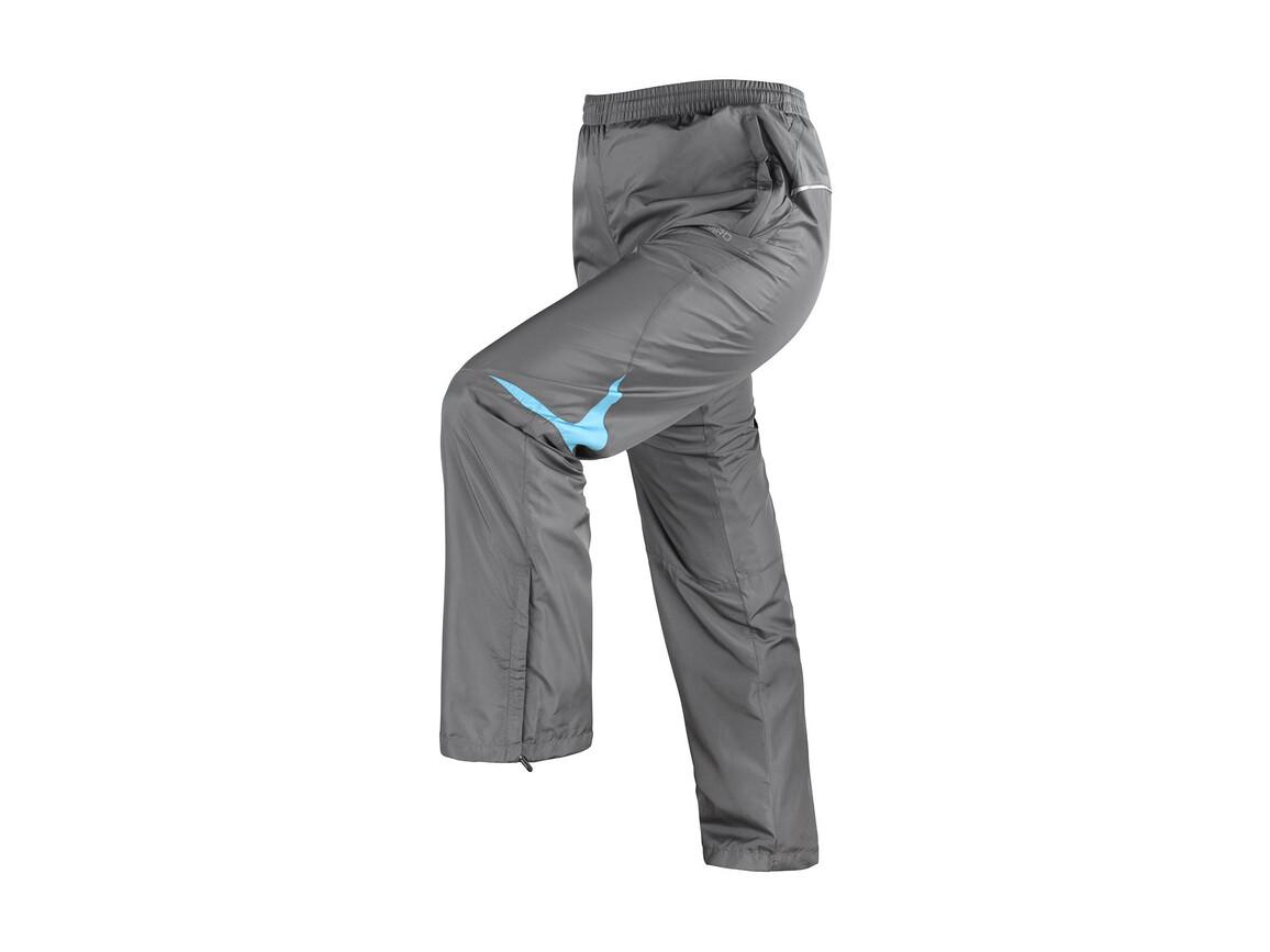 Result Men`s Micro Lite Team Pant, Grey/Aqua, S bedrucken, Art.-Nr. 026331443