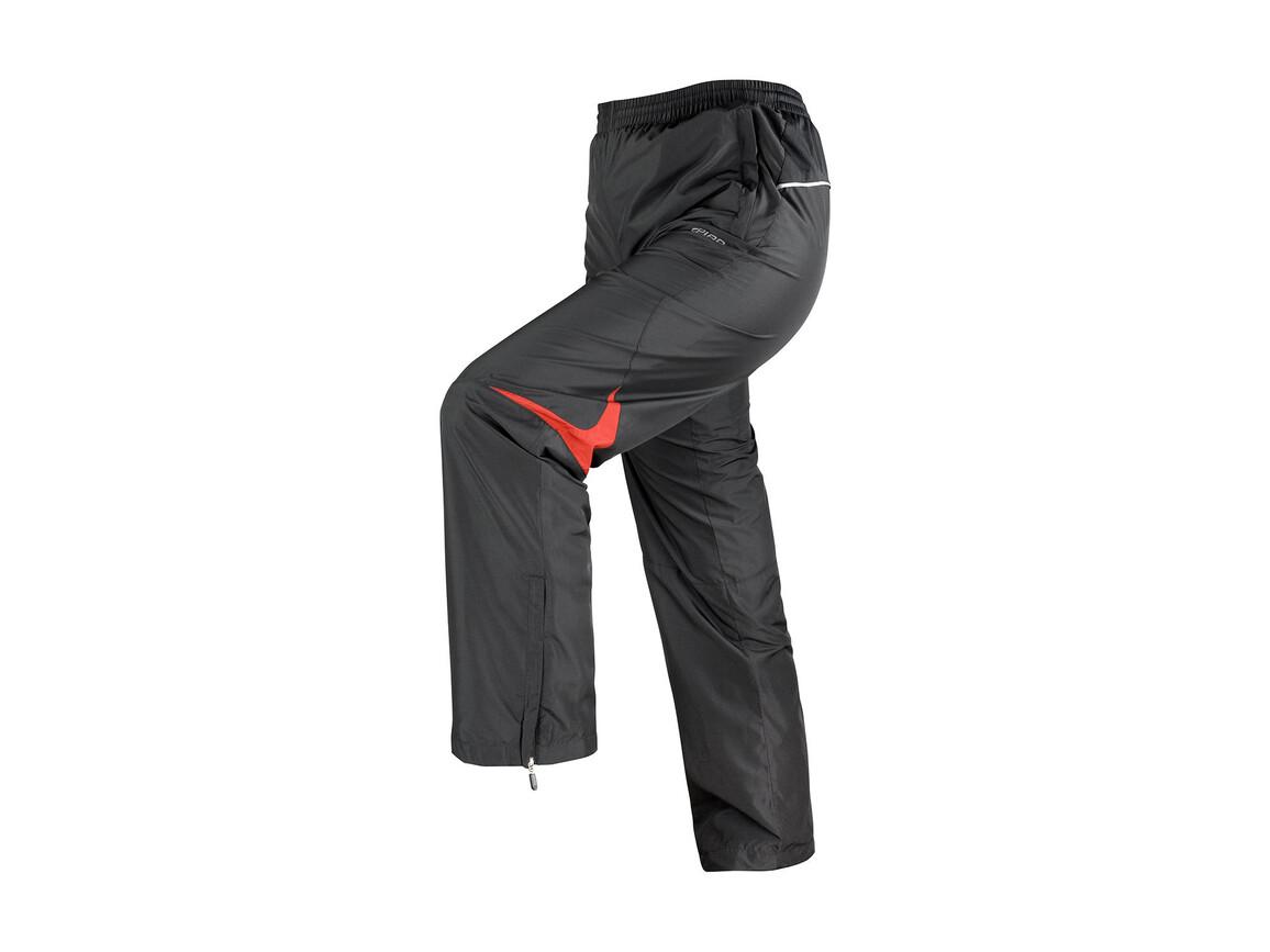 Result Men`s Micro Lite Team Pant, Black/Red, L bedrucken, Art.-Nr. 026331545