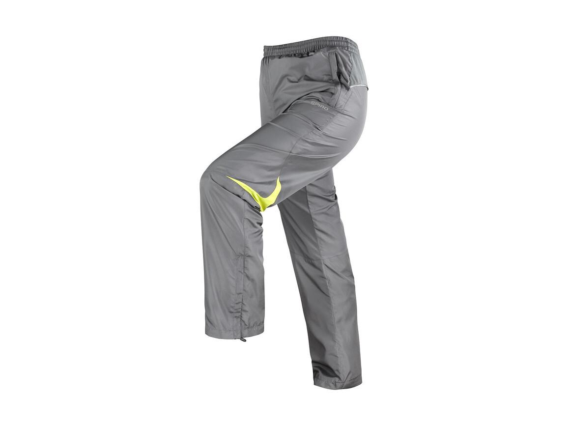 Result Men`s Micro Lite Team Pant, Grey/Lime, L bedrucken, Art.-Nr. 026331565
