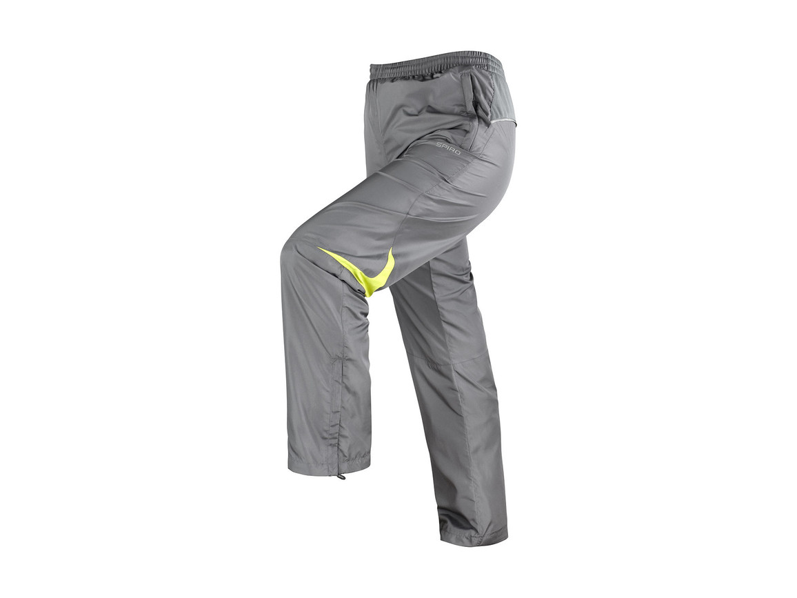 Result Men`s Micro Lite Team Pant, Grey/Lime, XL bedrucken, Art.-Nr. 026331566