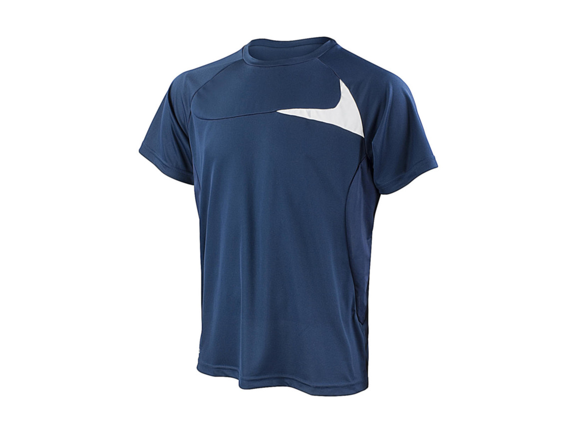 Result Spiro Men`s Dash Training Shirt, Navy/White, 2XL bedrucken, Art.-Nr. 027332527