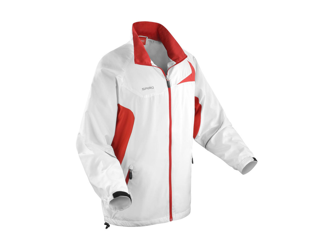 Result Unisex Micro Lite Team Jacket, White/Red, 2XL bedrucken, Art.-Nr. 028330577