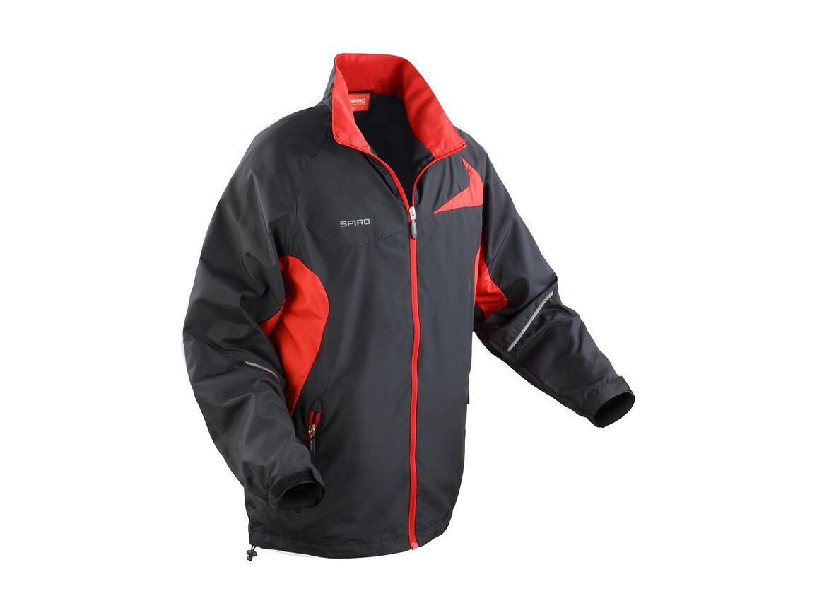 Result Unisex Micro Lite Team Jacket, Black/Red, L bedrucken, Art.-Nr. 028331545