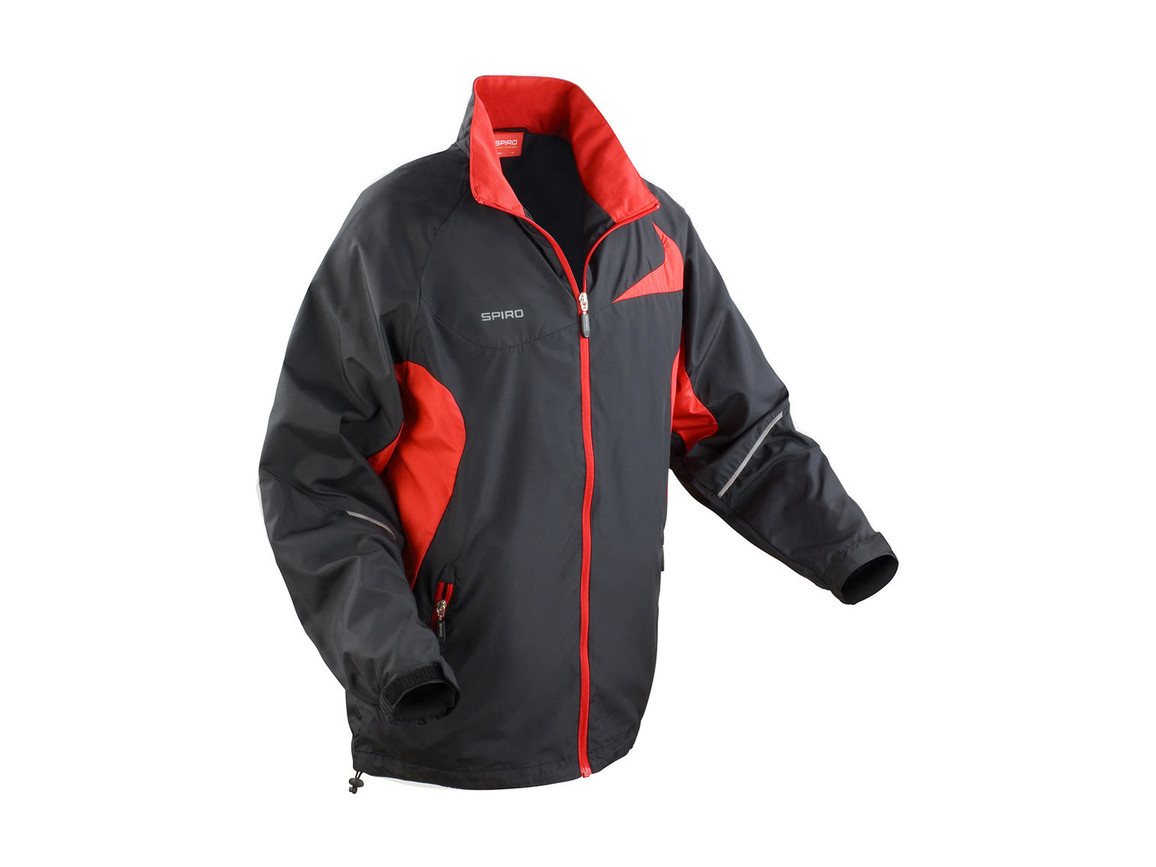 Result Unisex Micro Lite Team Jacket, Black/Red, S bedrucken, Art.-Nr. 028331543