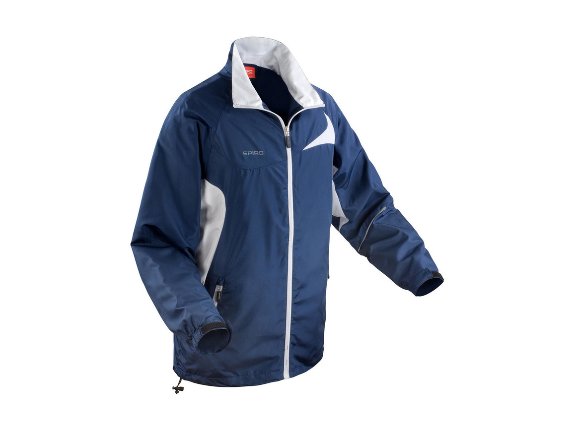 Result Unisex Micro Lite Team Jacket, Navy/White, L bedrucken, Art.-Nr. 028332525