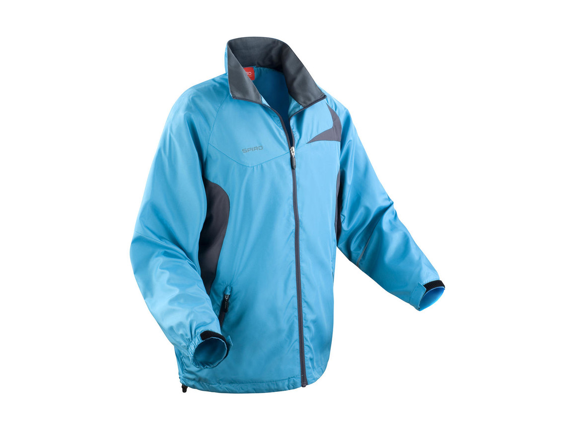 Result Unisex Micro Lite Team Jacket, Aqua/Grey, L bedrucken, Art.-Nr. 028333515
