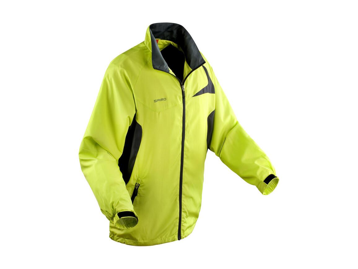 Result Unisex Micro Lite Team Jacket, Lime/Grey, S bedrucken, Art.-Nr. 028335553