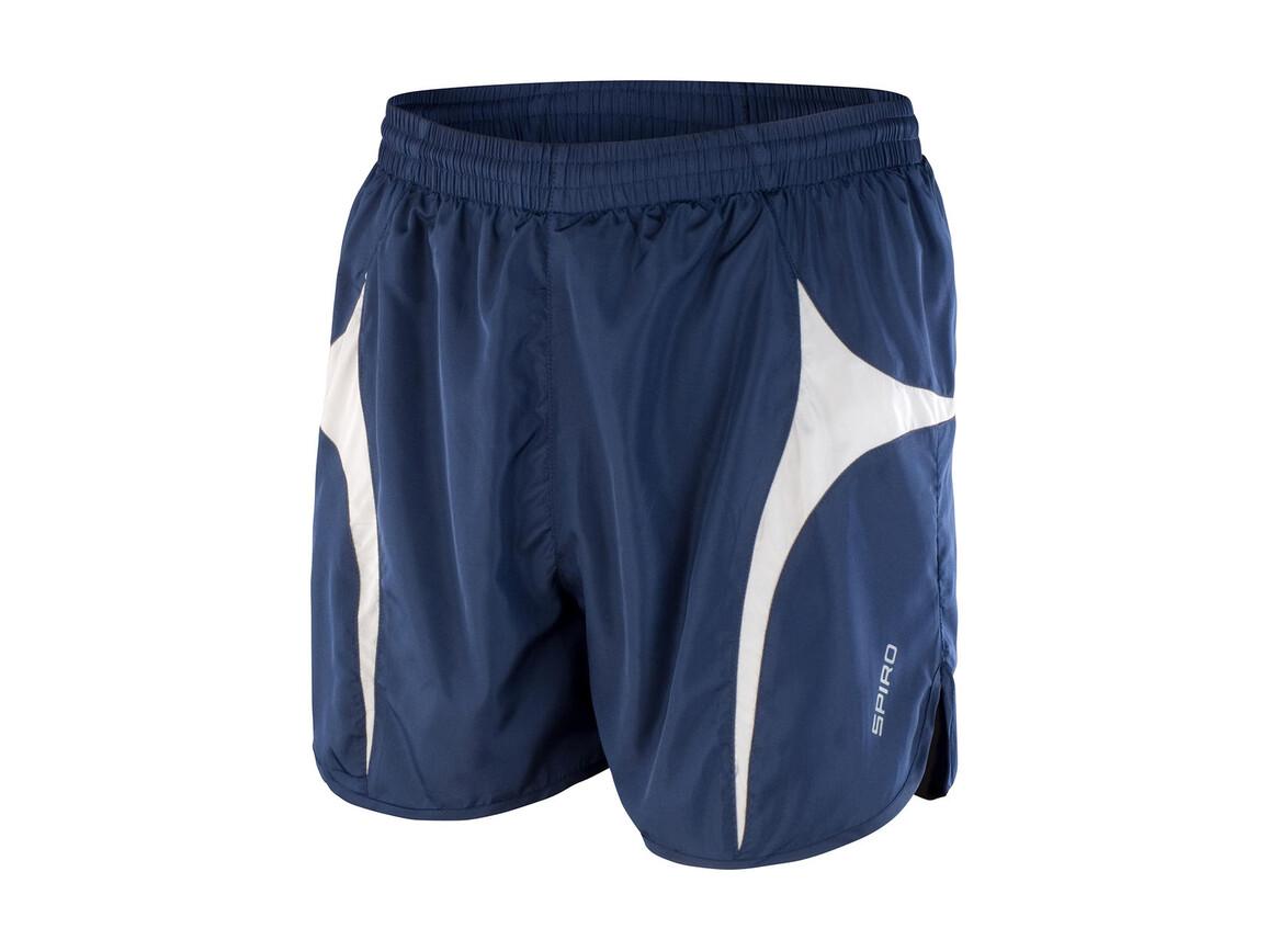 Result Unisex Micro Lite Running Shorts, Navy/White, XS bedrucken, Art.-Nr. 029332522