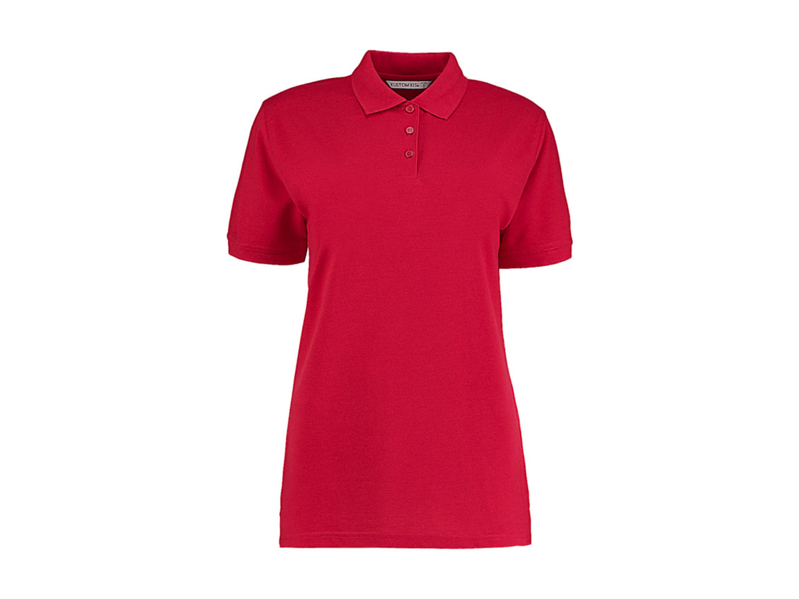 Kustom Kit Ladies` Classic Fit Polo Superwash® 60º, Red, L bedrucken, Art.-Nr. 042114005