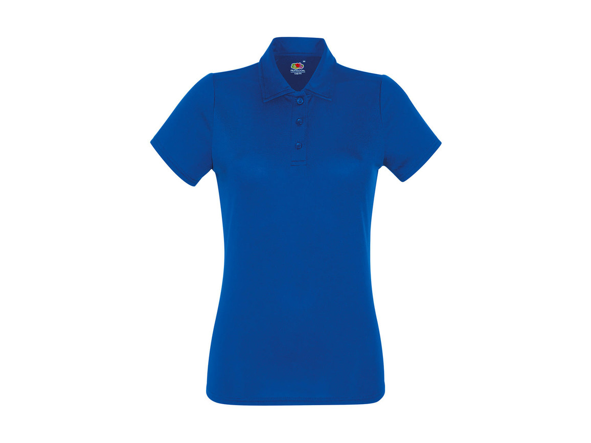 Fruit of the Loom Ladies` Performance Polo, Royal, XL bedrucken, Art.-Nr. 051013006