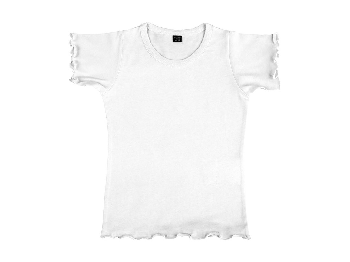 nakedshirt Mouse Girl`s Fashion T-Shirt, White, 104 (3-4) bedrucken, Art.-Nr. 110850003