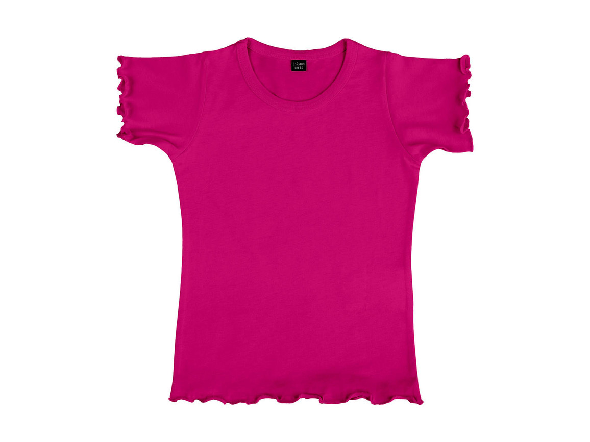 nakedshirt Mouse Girl`s Fashion T-Shirt, Dark Pink, 116 (5-6) bedrucken, Art.-Nr. 110854244